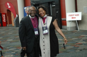And Bishop Gayle Harris, with PB nominee Bishop Michael Curry.
