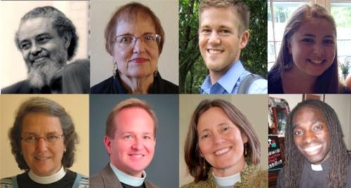 Top (from left): Byron Rushing, Fredrica Harris Thompsett, Samuel Gould, Sarah Neumann; Bottom (from left): The Rev. Canon Mally Lloyd, The Rev. Thomas Brown, The Rev. Jane Gould, The Rev. Edwin Johnson